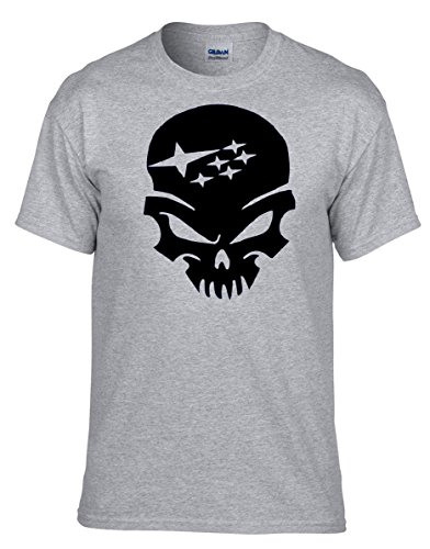 SUBARU SKULL AUTO Grau Fun T-Shirt -123 -Grau