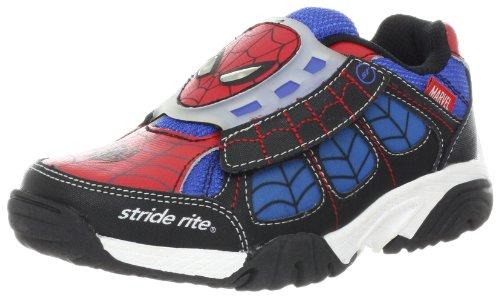 Spiderman Shoes For Kids (Stride Rite Ultimate Spider-Man Light-Up Sneaker (Little Kid),Red/Blue,3 M US Little Kid)