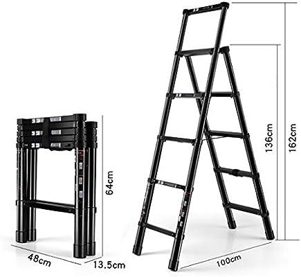 GWXSST Escalera Telescópica Escalera Plegable multifunción Escalera de ingeniería Aleación de Aluminio Engrosamiento Escaleras de elevación de 5 Pasos Escalera de elevación portátil: Amazon.es: Hogar