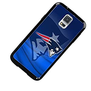 New England Patriots with Blue Background Custom Shockproof Case By S and S Accessories(TM) for Samsung Galaxy S5 Active Kimberly Kurzendoerfer