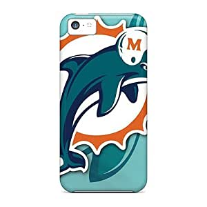 Great Hard For Iphone 5C Phone Case Cover (qXh9571Ugmq) Design Stylish Miami Dolphins Skin