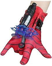 Usmato Launcher handschoenen voor Spider-Man, Kids Plastic Cosplay Handschoen, Hero Launcher Pols Toy Set, Grappig Kids Educatief Speelgoed, One Size Cosplay