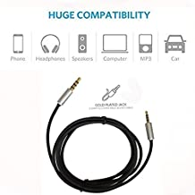Bose QC25 Replacement Cable – 1.5M Renewal Lead for Bose Quiet Comfort 25/QC25 (On-Ear) Headphones – Gold Plated Jacks Compatible with IOS, Android, Apple, Samsung