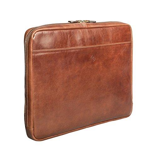 Maxwell Scott Luxury Handmade Italian Leather Laptop / Macbook Sleeve 15 inch (The Verzino) - One Size by Maxwell Scott Bags (Image #2)