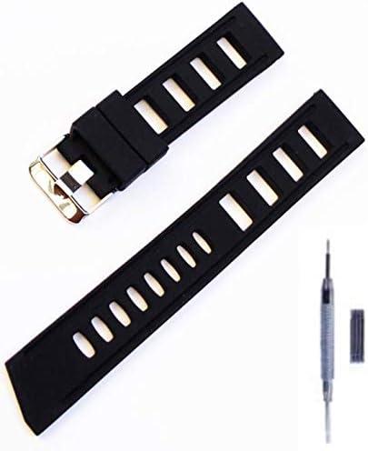 mind watch 時計バンド シリコンラバー腕時計バンド 時計ストラップ スマートウォッチストラップ 5色 通気性高い 肌に柔らかい 防水 防汗 男女通用 交換便利 調整工具付 (20mm, ブラック)