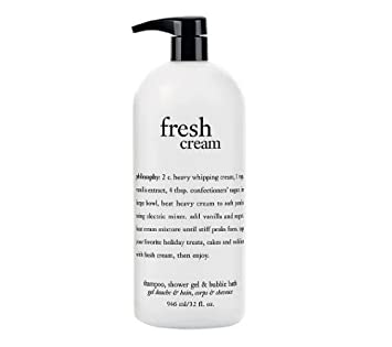 Amazon.com : Philosophy Fresh Cream Shampoo, Shower Gel & Bubble ...