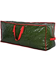 Christmas Tree Storage Bag - Stores a 9-Foot Artificial Xmas Holiday Tree. Durable Waterproof Material to Protect Against Dust, Insects, and Moisture. Zippered Bag with Carry Handles. (Green)
