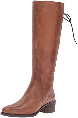 Steve Madden Women's Laceupp Western Boot, Cognac Leather, 9.5 M US by Steve Madden