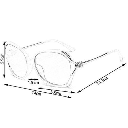 Sol Para De Mujer Exteriores color Blanco Polarizadas Protección Mujer Uv400 Gafas Blanco Wayfarer fqBR1fW