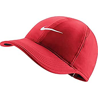 Nike U Nk Arobill Fthrlt Gorra de Tenis, Mujer, Rojo (University ...