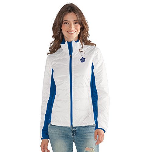 GIII For Her NHL Toronto Maple Leafs Women's Grand Slam Full Zip Jacket, Medium, ()