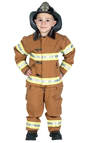 The Heat Movie Halloween Costume (Jr. Fire Fighter Suit Tan Child Costume Brown Med)