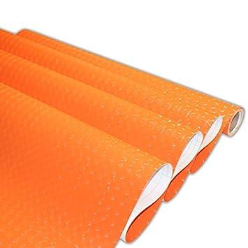 YUELA Ojo 3D Pegatina reacondicionados muebles archivadores coche eléctrico variación de color film autoadhesivo Wallpaper Wallpaper 3D Ojo naranja: ...