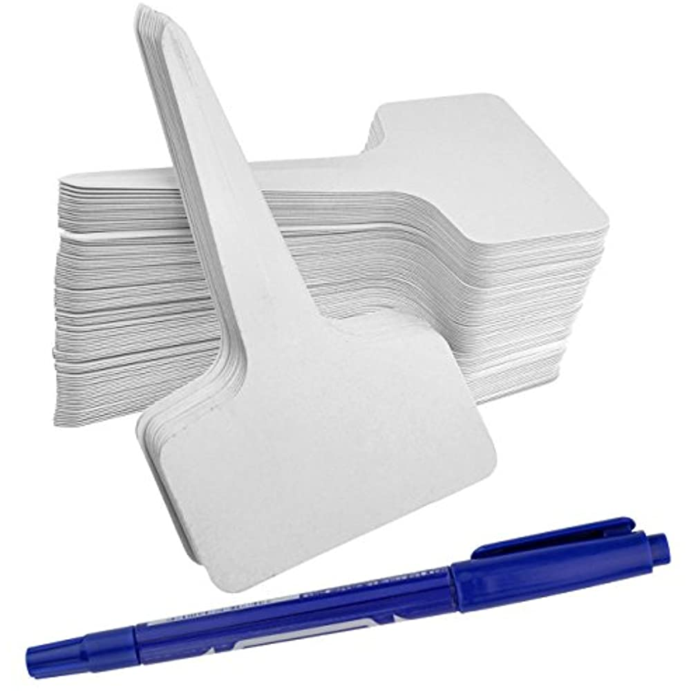 100 PCS Thick Plastic Tree Tags Labels Tags Garden Labels Markers Reusable White