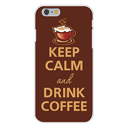 Apple iPhone 6 Custom Case White Plastic Snap On - Keep Calm and Drink Coffee Steaming Mug