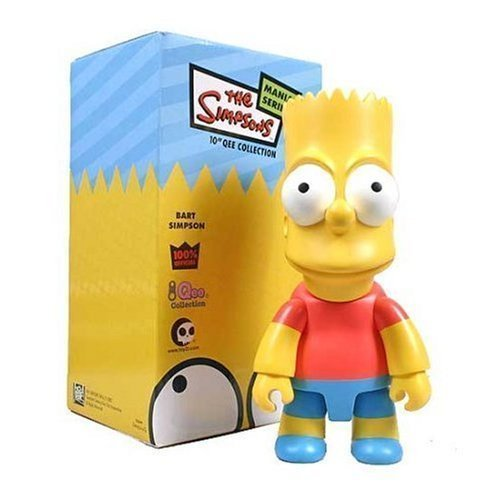 The Simpsons: Bart Simpson 10-Inch Qee Vinyl (3' Action Figure Keychain)