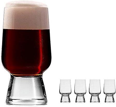 oha-design Juego de 4 vasos universales para cerveza artesanal como Pale Ale, Pils, Wit   4 piezas 290 ml   Gin Tonic vasos – Whiskey – copas de vino blanco   regalo de cerveza hombres