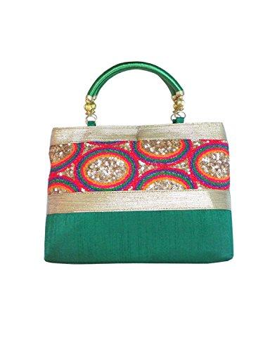 Bhamini S112011610GR, Borsa a mano donna Verde Green