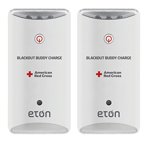 American Red Cross Blackout Buddy Charge Emergency LED Flashlight, Blackout Alert, Nightlight & Phone Charger (Pack of 2)