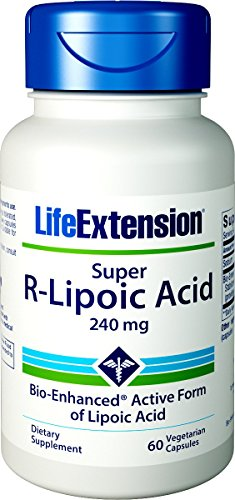 - Life Extension Super R-Lipoic Acid, 240mg, 60 Vegetarian Capsules