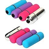 Villvi 4pcs Mini Powerful Multi-Speed Bullet Shape Personal Vibrating Massage Tool
