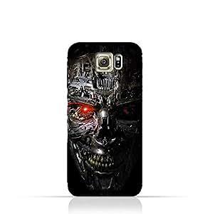 Samsung Galaxy S6 Edge TPU Protective Silicone Case with Terminator Robot Design