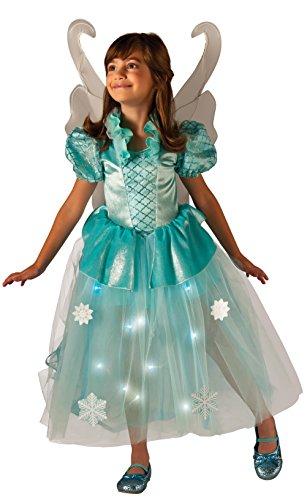 [Rubie's Costume Kids Winter Fairy Lite up Costume, Medium] (Dress Up Fairy Wings)
