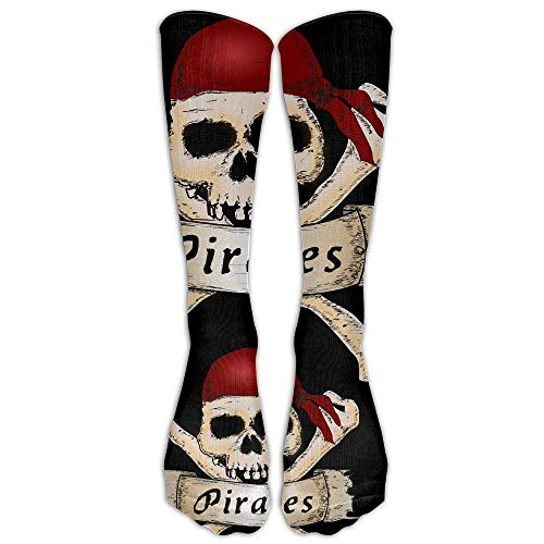 - UFHRREEUR LBLOGITECH Pirate Skull Crossbones Scarf Long Novelty Calf High Athletic Sock Outdoor Gift