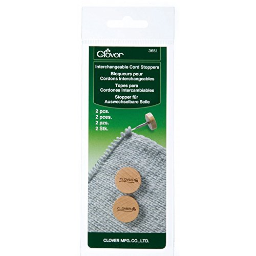 Clover Needlecraft 2-Piece Interchangeable Cord Stoppers Clover Needlecraft inc. 075739