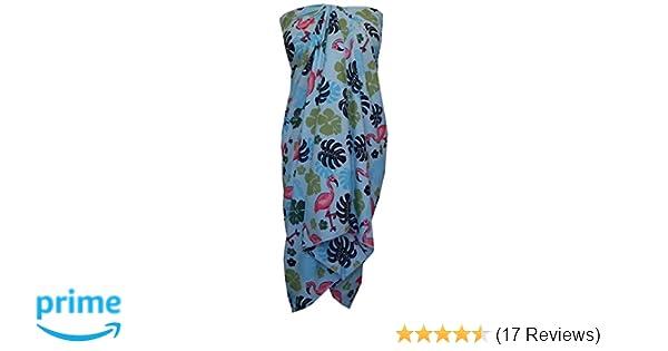 fa8b99017178 Sarong 37 Women Flamingo Printed Beach Swimsuit Wrap One Size Pareo Aqua  Blue at Amazon Women's Clothing store: