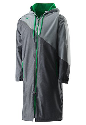 Speedo Unisex Color Block Parka Jacket, Medium , Green