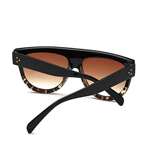 soleil surdimensionné Celebrity Noir de Motif Shield Hommes K Designer Style Dessus Lunettes léopard rétro Plat Shadow femmes Kim Rq6PxUqwFt