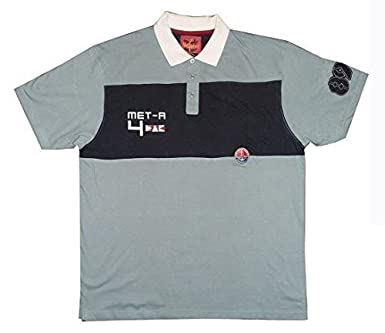 7a297bac METAPHOR PURE COTTON META4 RPINTED APPLIQUE RUGBY POLO IN SIZE XL TO 6XL, 2  COLORS: Amazon.co.uk: Clothing