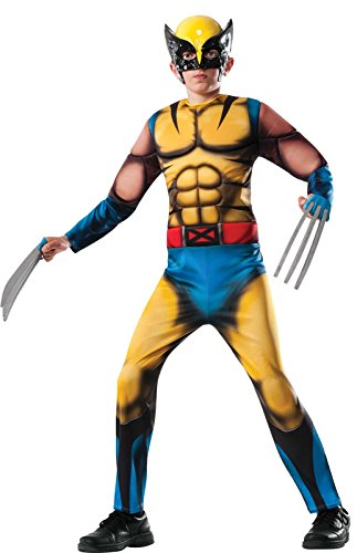 Rubie's Marvel Classic Universe Child's Deluxe Muscle-Chest Wolverine Costume, -