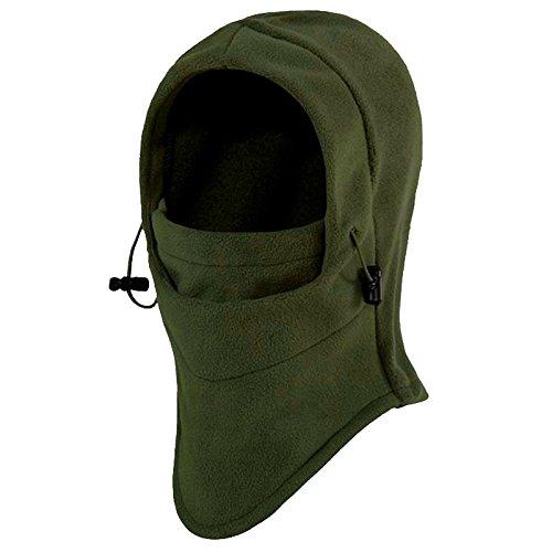 Fleece Balaclava R TOOGOO Thermal Fleece Balaclava Hood Swat Ski Mask Bike Skullies /& Beanies Winter Wind Stopper Face Hats Army Green