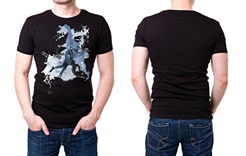 Eisschnelllauf_I schwarzes modernes Herren T-Shirt mit stylischen Aufdruck