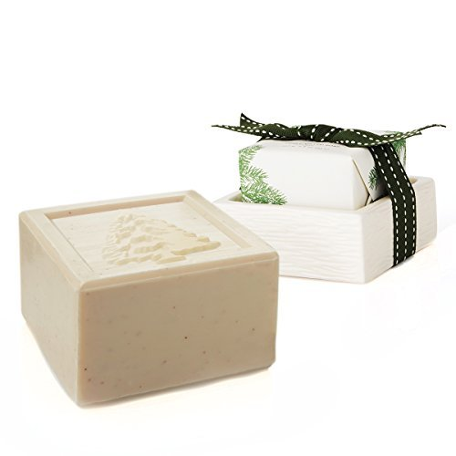 Bar Soap and Dish Set - Triple Milled - 5.5 Ounces ()
