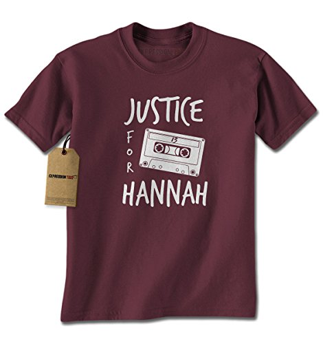 Mens Justice For Hannah T-Shirt X-Large Maroon