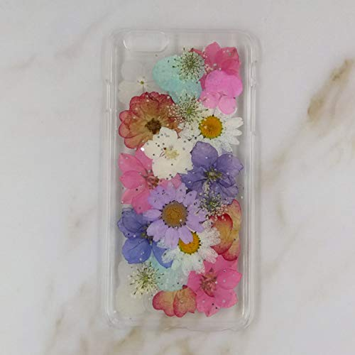 Crystal_phonecase Pressed Dried Flower Real Natural Fresh Handmade Resin Clear Case for iPhone 4 4s 5c 5 5s SE 6 6s 6/6sPlus 7 8 7/8Plus X Xs XR Xs Max (#3, iPhone 5c)