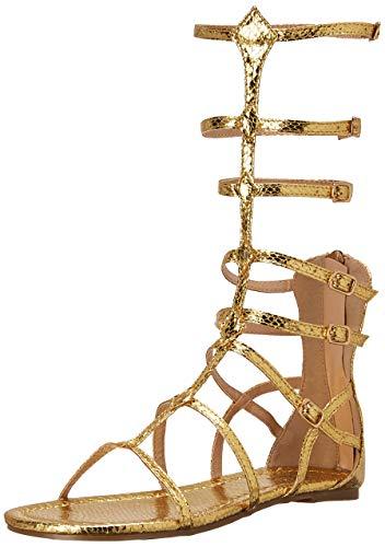 Ellie Shoes Women's 015-ZENA Flat Sandal, Gold, 9