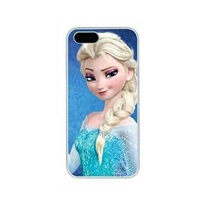 Hanifa Dirar Hadad's Shop Hot Elsa Frozen Movie Iphone 5/5S White Sides Hard Shell Case by eeMuse 7794073M18279005