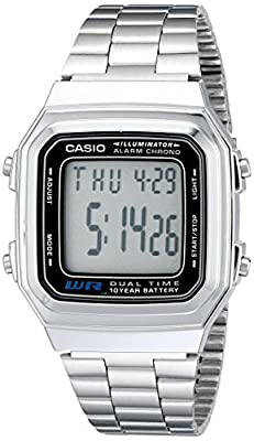 Casio Men's A178WA-1A Illuminator Stainless Steel Watch