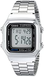 Men€˜s Casio Digital Watch - Silver A178WA-1A TRG