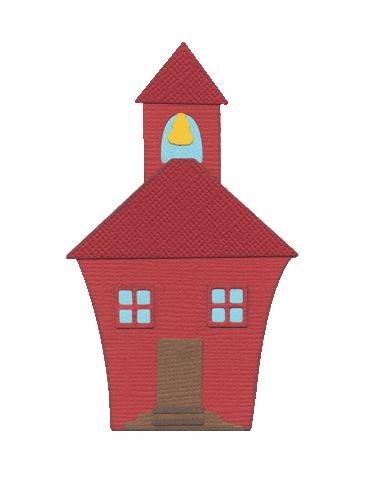 QUICKUTZ We R Memory Keepers 4-Inch by 4-Inch Die, Schoolhouse -