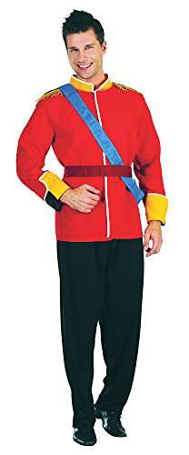 Red & Black Men's Prince Royal Family (Storybook Prince Adult Mens Costumes)