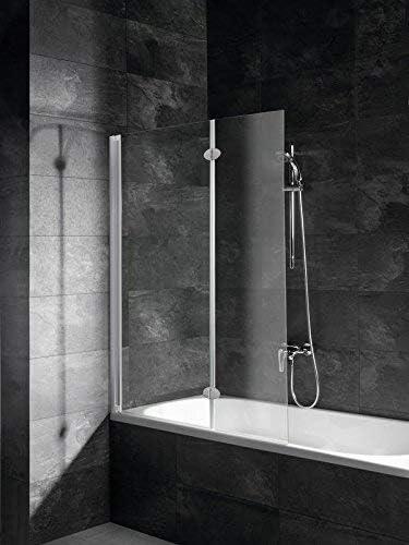 Schulte - Mampara plegable, mampara de ducha reversible y plegable ...