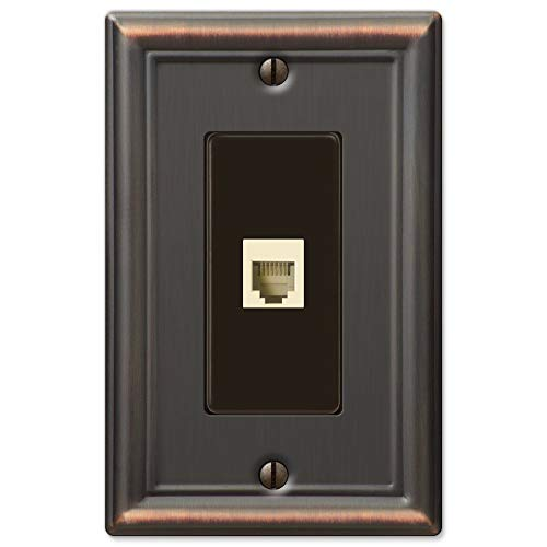Chelsea Aged Bronze 1 Phone Jack with Hardware