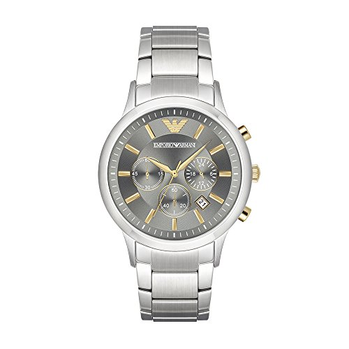 Emporio Armani Men's Quartz Stainless Steel Casual Watch, Color:Silver-Toned (Model: AR11047) from Emporio Armani