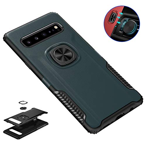 Galaxy S10 5G Case, Futanwei Military-Grade Drop Armor Heavy Duty Shockproof Bumper Protective Case with Rotating Ring Holder [Magnetic Car Mount] for Samsung Galaxy S10 5G Phone 6.7 inch, Navy