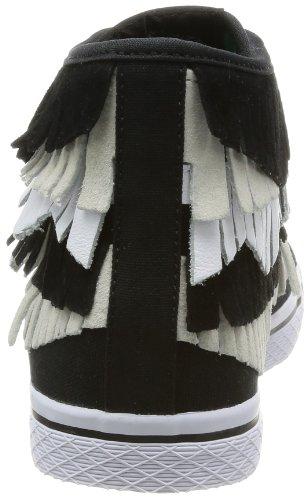 adidas Honey Mid Fringe W - - Mujer Negro / Beige / Blanco